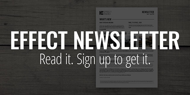 Sign up for the Effect Newsletter
